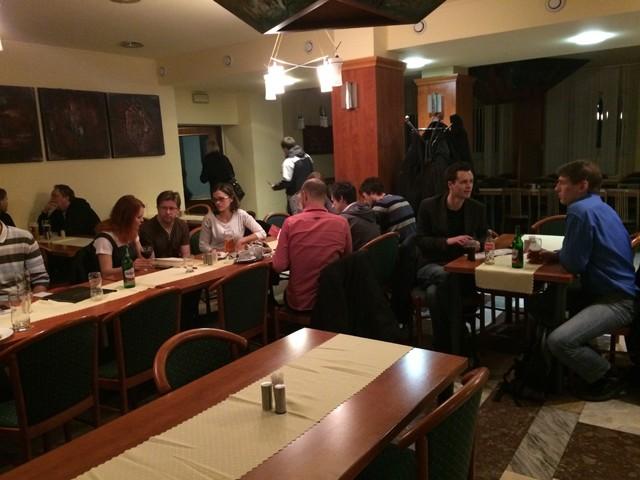 Polovina z přítomných při networkingu v restauraci hotelu Jehla. Foto: Marek Hnátek